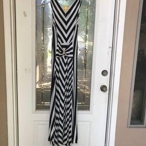 Stripped maxim dress